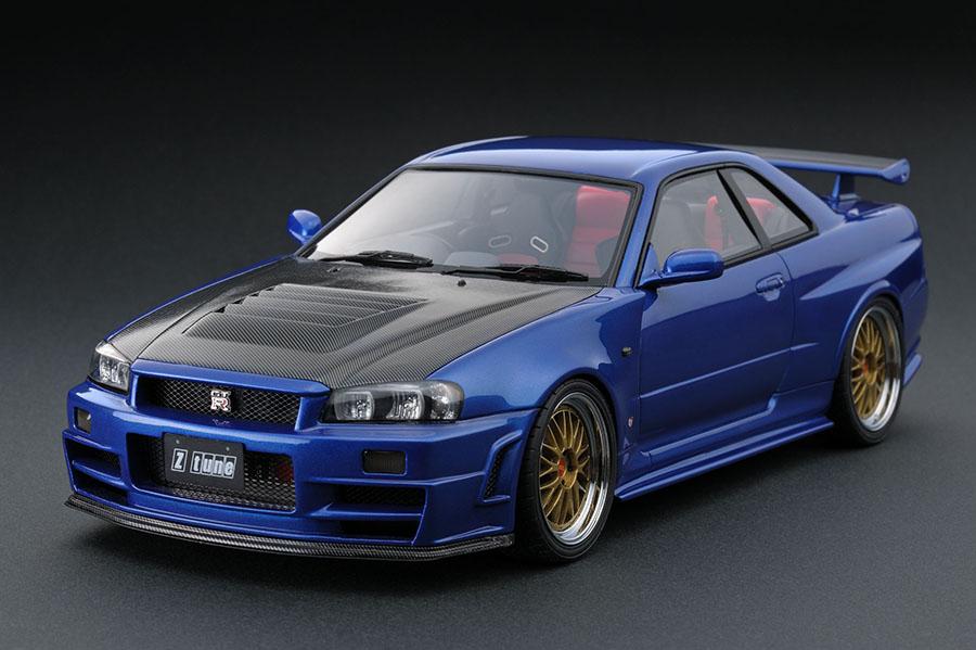Nismo Nissan Skyline R34 Gtr Z Tune 2005 Pictures >> IG0017 1/18 Nismo R34 GT-R Z-tune Bayside Blue   LINE UP ...