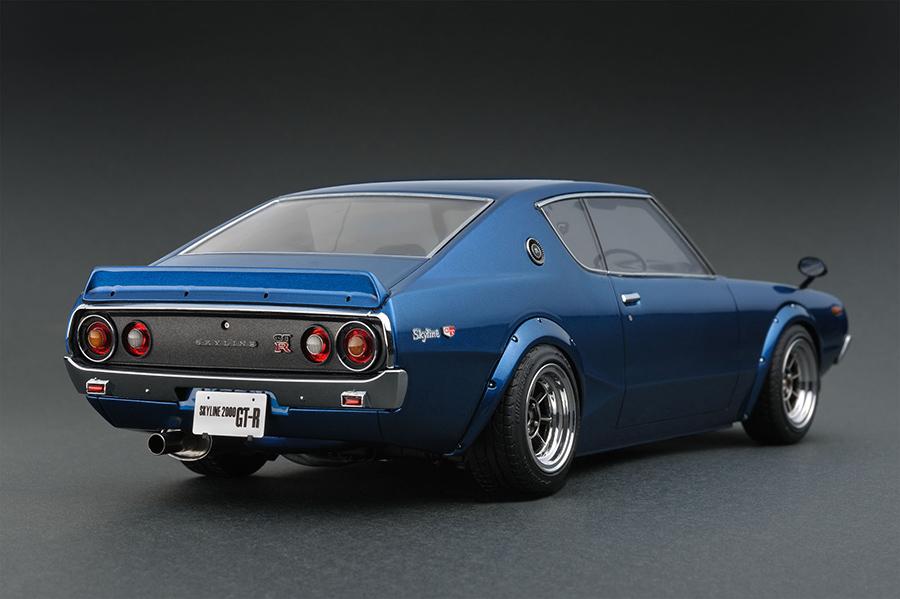 Ig0304 1 18 Nissan Skyline 2000 Gt R Kpgc110 Blue Line