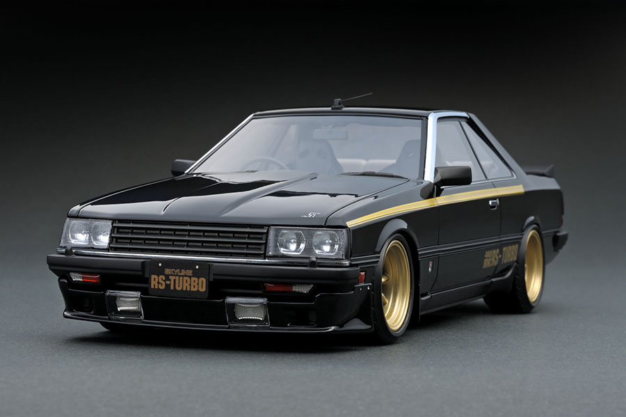 ig0986 1  18 nissan skyline 2000 rs turbo  r30  black